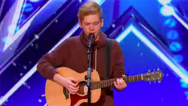 Chase Goehring sings original song 'Hurt' on America's Got Talent 2017