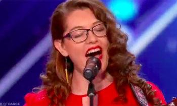 Deaf singer Mandy Harvey sings 'Try,' gets Golden Buzzer on America's Got Talent 2017