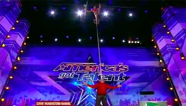 Elena and Sasha wows with dangerous act on America's Got Talent 2017