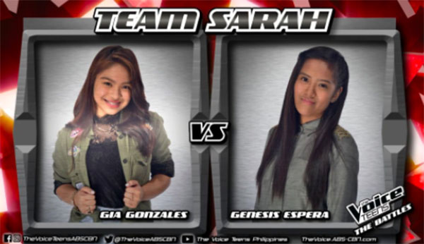 Gia vs Genesis 'Weak' The Voice Teens Philippines Battles