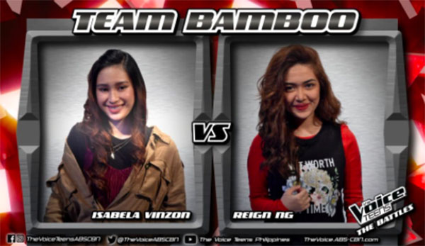 Isabela vs Reign 'Here' The Voice Teens Philippines Battles