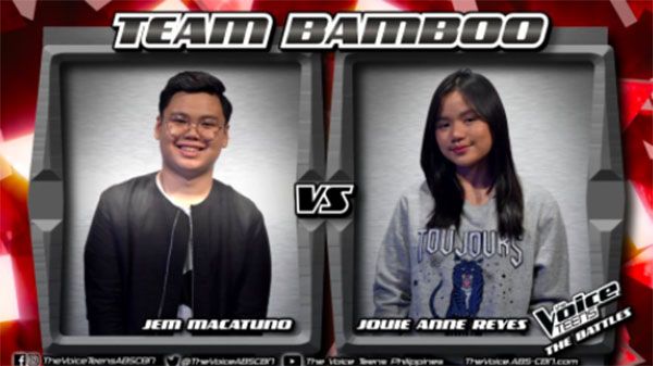 Jem vs Jouie 'Pag-ibig/Masaya' The Voice Teens Philippines Battles