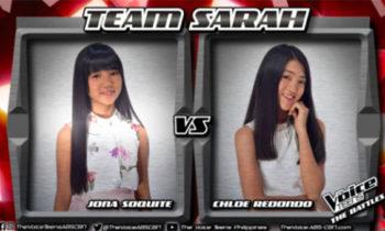 """Watch: Jona vs Chloe """"Sana'y Maghintay Ang Walang Hanggan"""" The Voice Teens Philippines Battles"""