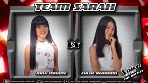 """Jona vs Chloe """"Sana'y Maghintay Ang Walang Hanggan"""" The Voice Teens Philippines Battles"""
