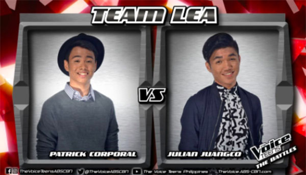 Julian vs Patrick 'Treat You Better' The Voice Teens Philippines Battles