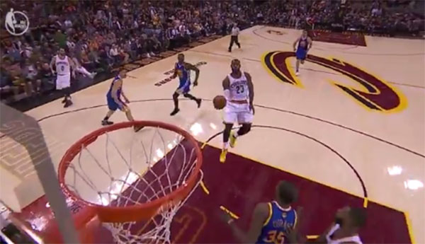 LeBron James does a jaw-dropping Dunk on Game 4 NBA Finals