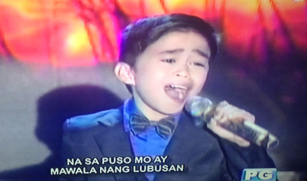 Mackie Empuerto sings 'May Bukas Pa' on Tawag Ng Tanghalan Kids Grand Finals