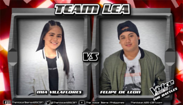 Mia vs Felipe 'Killing Me Softly With His Song' The Voice Teens Philippines Battles
