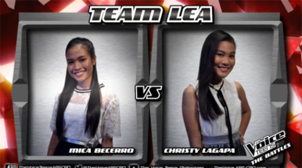 Mica vs Christy 'Ave Maria' The Voice Teens PhilippinesBattles