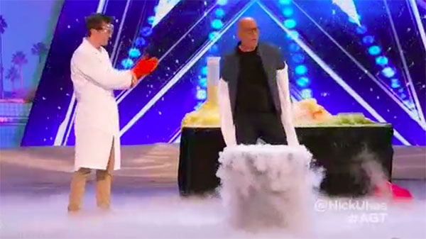 Nick Uhas wows Judges with wild Science trick on America's Got Talent 2017