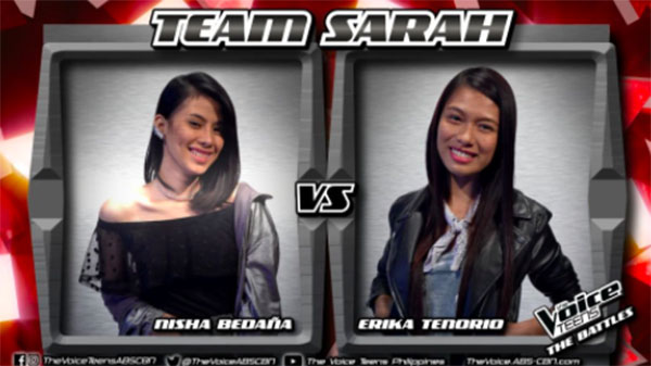 Nisha vs Erika 'Nothing Compares 2 U' The Voice Teens Philippines Battles