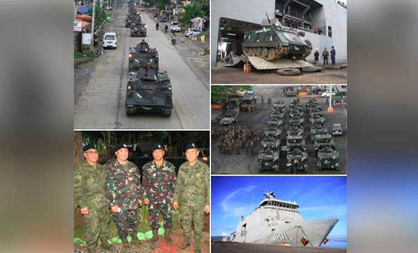 PH Military Deploys Armored Tanks, 400 Marines to Marawi City