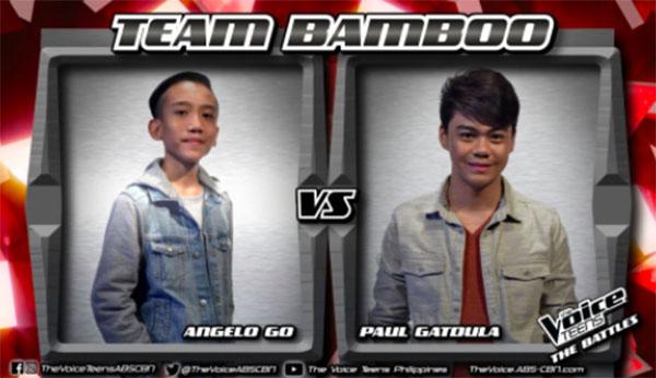 Paul vs Angelo 'Sinta' The Voice Teens Philippines Battles
