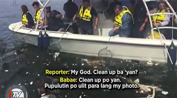 'Staged and for Publicity' Mayor Estrada's Manila Bay Cleanup Drive