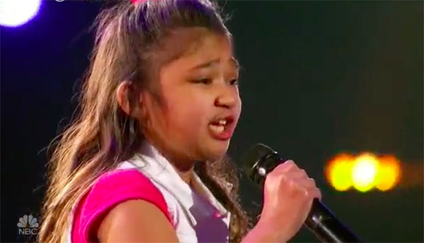 Angelica Hale sings 'Girl On Fire,' gets Golden Buzzer from Chris on America's Got Talent 2017 Judge Cuts