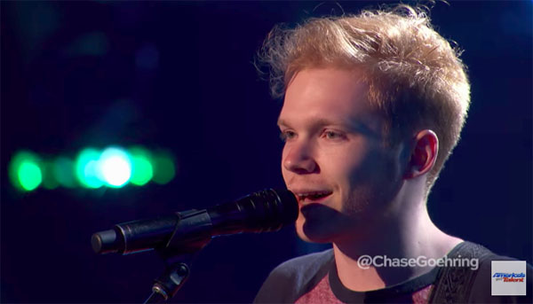 Chase Goehring sings original 'A Capella,' gets Golden Buzzer from DJ Khaled on America's Got Talent 2017 Judge Cuts