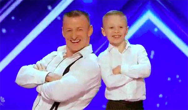 Dad and son Danylo and Oskar charms on America's Got Talent 2017