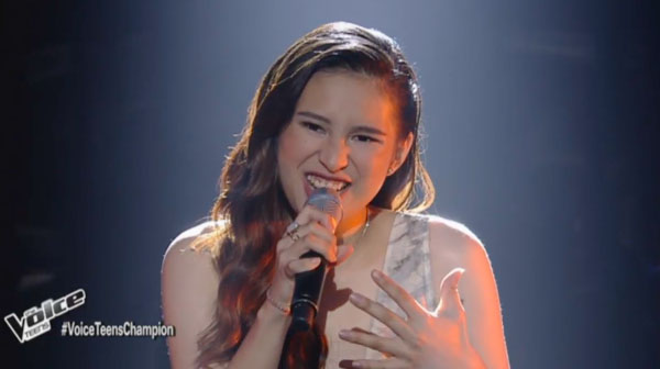 Isabela Vinzon sings 'Rise Up' on The Voice Teens Philippines Grand Finals