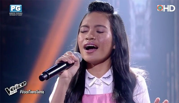Mica Becerro sings 'Loving You' on The Voice Teens Philippines Semifinals