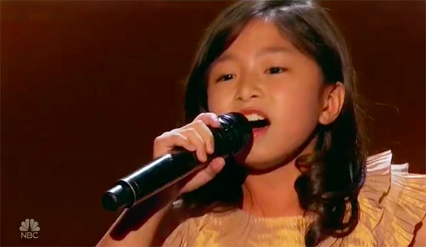 9-year-old singer Celine Tam gets Golden Buzzer on America's Got Talent 2017 Judge Cuts