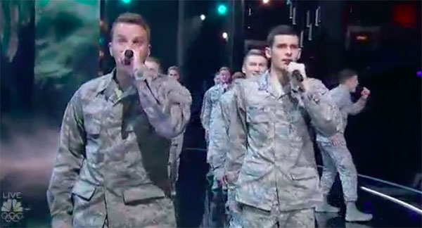 In The Stairwell sings 'Some Nights' on America's Got Talent Live Shows