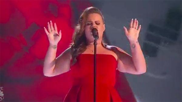 Yoli Mayor sings 'Human' on America's Got Talent Live Shows