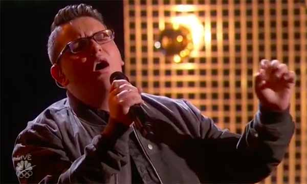 "Christian Guardino sings ""What's Going On"" on America's Got Talent Semifinals"