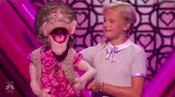 Darci Lynne and Edna dedicates a song for Simon on America's Got Talent Semifinals