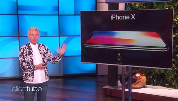 Ellen DeGeneres Hilariously Roasts the New Apple iPhone X