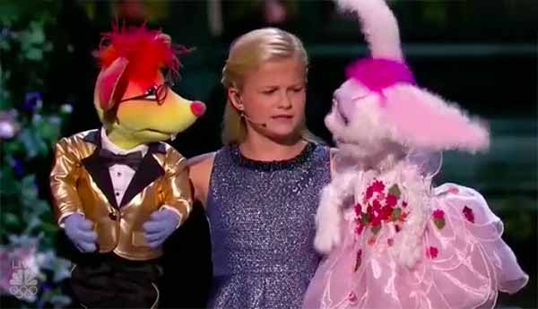 Ventriloquist Darci Lynne performs 'With a Little Help from My Friends' on America's Got Talent Finals