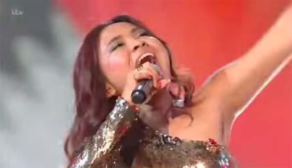 """Alisah Bonaobra sings """"Let's Get Loud"""" on The X Factor UK Live Shows Week 2"""
