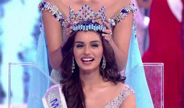 Indian Girl Manushi Chillar Crowned As Miss World 2017