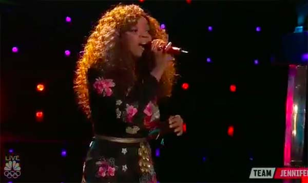 Shi'Ann Jones sings 'Vision Of Love' on The Voice 2017 Live Shows Top 12