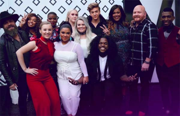 The Voice iTunes Charts and Rankings for Season 13 Top 12