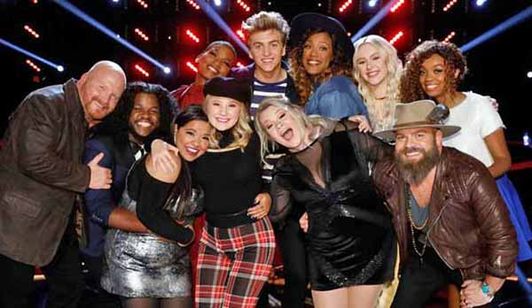 The Voice iTunes Charts and Rankings - Season 13 Top 11