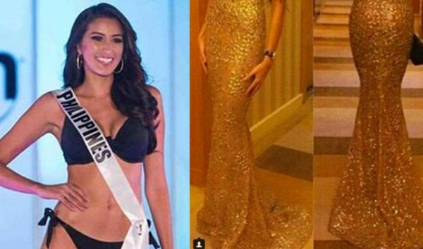 LOOK: LEAKED Rachel Peters Evening Gown for Miss Universe 2017
