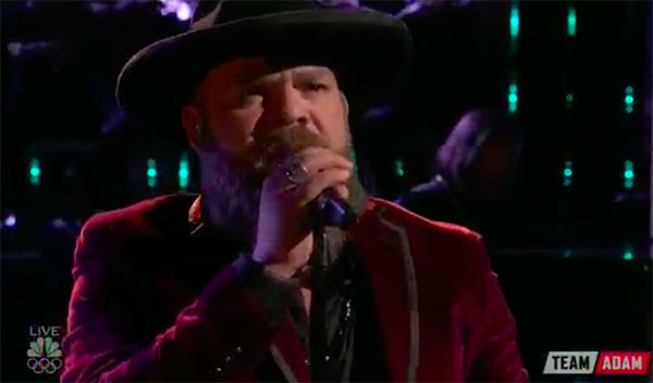 "Adam Cunningham sings ""I'm Already There"" on The Voice 2017 Top 8 Live Semifinals"
