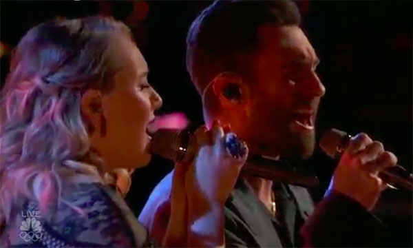 """Addison Agenand Adam Levine Duet """"Falling Slowly"""" on The Voice 2017 Top 4 Finale"""