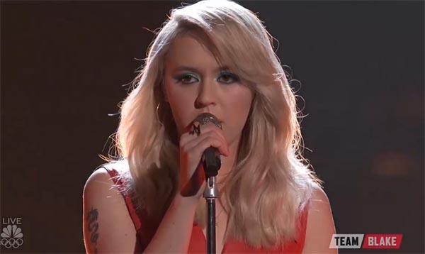 Chloe Kohanski sings 'Call Me' on The Voice 2017 Live Shows Top 10