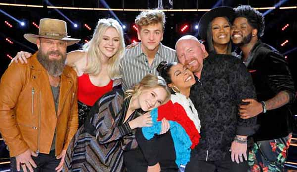 The Voice 2017 Season 13 Top 8 Semifinals iTunes Charts and Rankings