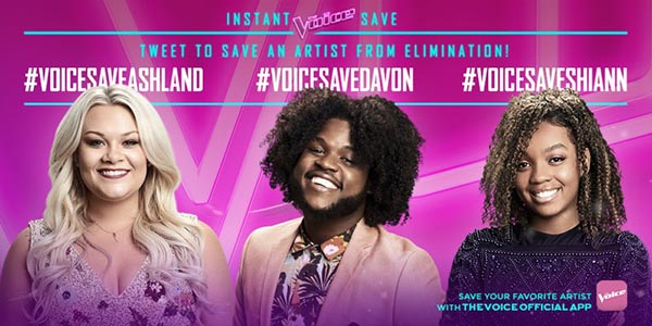 The Voice Results Tonight: Ashland Craft and Shi'Ann Jones Eliminated 12/5/2017