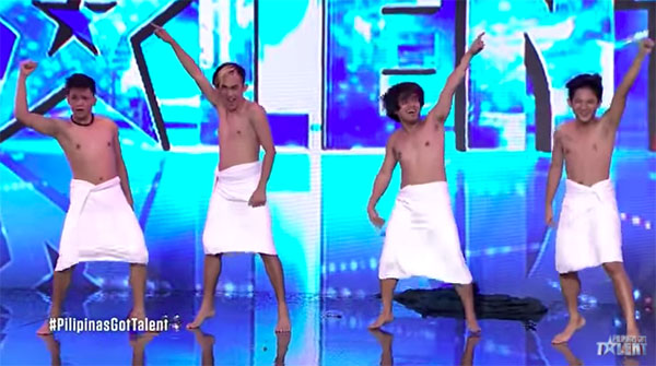 Mama's Boyz drew laughs with Towel Dance on Pilipinas Got Talent