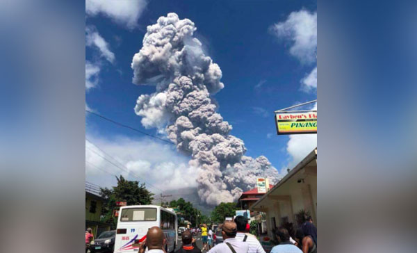 Watch: Mayon Volcano Erupts, Spews Huge Ash Cloud