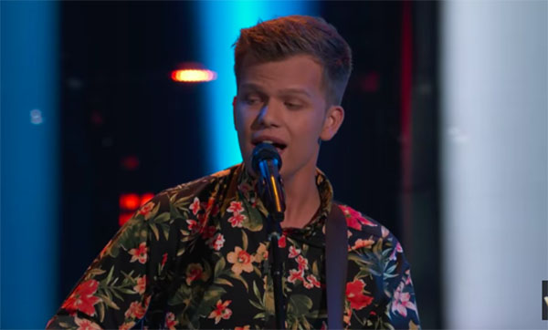 Britton Buchanan sings 'Trouble' on The Voice 2018 Blind Audition