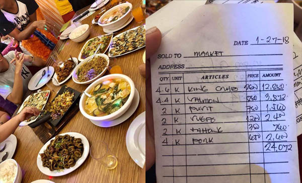 Customer Shocked with Php 34,000 Bill at a 'Paluto' Seafood Restaurant in Pasay