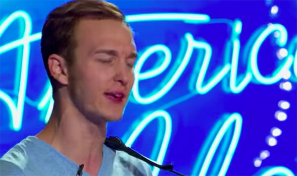 "Benjamin Glaze sings ""Levels"" on American Idol 2018 Auditions"