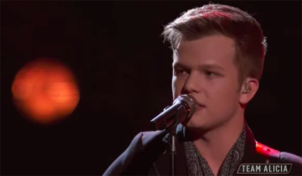 "Britton Buchanan sings ""Small Town"" on The Voice 2018 Top 12 Live Shows"