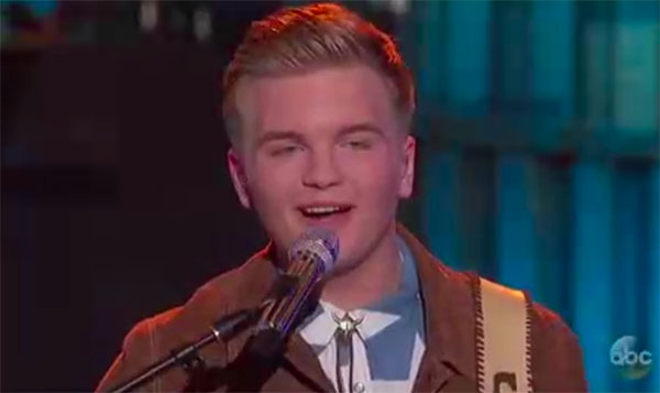 """Caleb Lee Hutchinson sings """"You've Got a Friend in Me"""" on American Idol 2018 Top 10 Disney Night"""