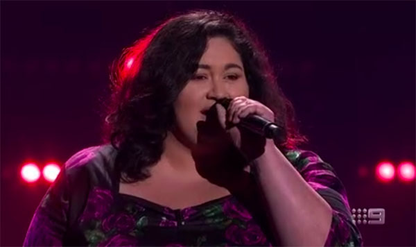 "Chrislyn Hamilton sings ""(You Make Me Feel Like) A Natural Woman"" on The Voice Australia 2018 Blind Auditions"