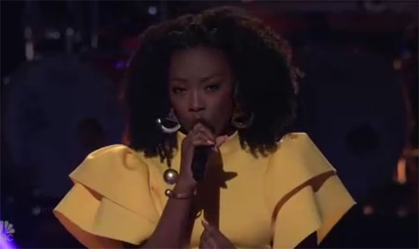 "Christiana Danielle sings ""Elastic Heart"" on The Voice 2018 Knockouts"